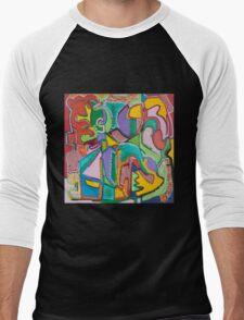 Purple Craze Men's Baseball ¾ T-Shirt
