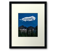 The clouds above the mountains Framed Print