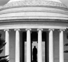 Jefferson Memorial 1679 BW Sticker