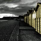 Beach huts at Budleigh by Rob Hawkins