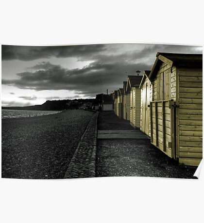 Beach huts at Budleigh Poster