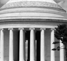 Jefferson Memorial 1678 BW Sticker