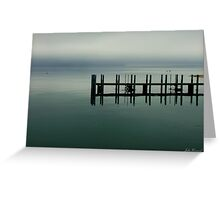 Misty Morning, Monkey Mia, Western Australia Greeting Card