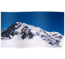 Summit of Mont Blanc from Cable Car Poster