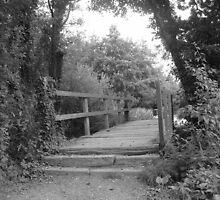 """""""One Bridge""""  Beg-Meil, Brittany, France by Anita  Fletcher"""