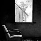 Solitary (B&amp;W) - Shearers Quarters, Bathurst, NSW by Dawn Webb
