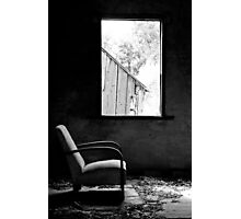 Solitary (B&W) - Shearers Quarters, Bathurst, NSW Photographic Print