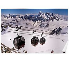 Mont Blanc Hellbrunner to Aguille de Midi cable car Poster
