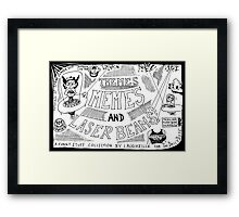 Themes Memes and Laser Beams Framed Print