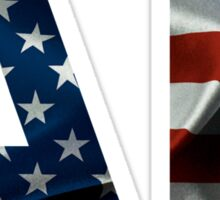 Alabama  American Flag Abbreviation  Sticker