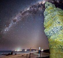 Milky Way Split Rock by Russell Charters