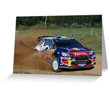 Sebastien Ogier SS12 Rally Australia Greeting Card