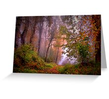 Fog On The Willamette River Greeting Card
