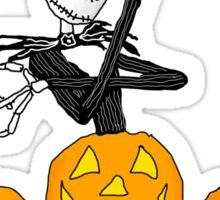 Pumpkin King of Halloween Town Sticker