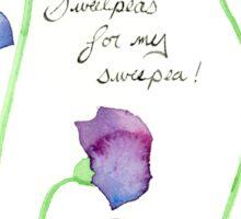 Watercolor Sweet Peas, Wildflowers Sticker