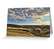 The hills of Lenore Greeting Card