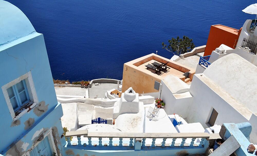 Beautiful view from Santorini, Oia by Katerina Vorvi
