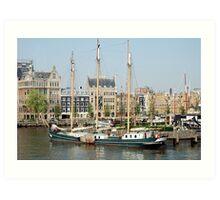 De Oude Haven Rotterdam Art Print