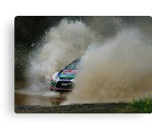 Mikko Hirvonen Rally Australia Canvas Print