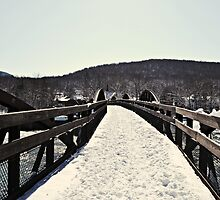 Snow Covered Bridge by wjwphotography