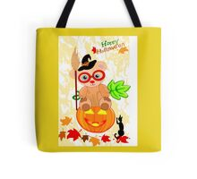 Halloween Teddy with glasses (4922 Views ) Tote Bag