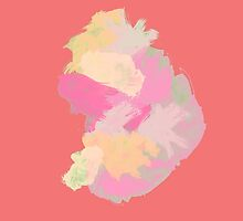 Coral Blob of Paint by perspectiveis
