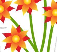 Firery Pinwheels Sticker