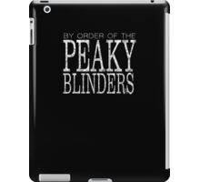 Peaky Blinders - By Order Of - White iPad Case/Skin