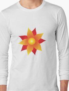 Firery Pinwheel Long Sleeve T-Shirt
