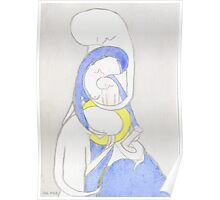 Joseph, Mary and Child, the Archangel Gabriel and the Lily Poster