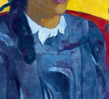 Paul Gauguin - Tahitian Woman with a Flower Sticker
