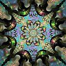 Bipolar Shapes-Mural 2 Flower by plunder