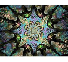 Bipolar Shapes-Mural 2 Flower Photographic Print