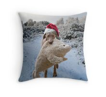 Blue for Xmas Throw Pillow