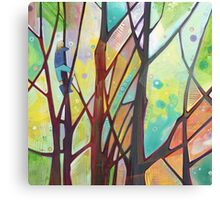 Girl climbing a tree painting - 2012 Canvas Print