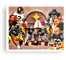 Pittsburgh Steelers Hall of Fame Offensive Legends Metal Print