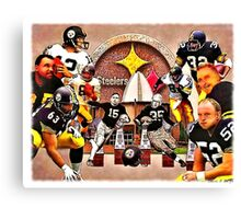 Pittsburgh Steelers Hall of Fame Offensive Legends Canvas Print