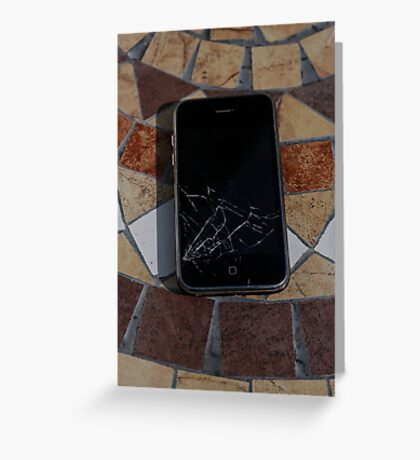 Cracked iPhone Greeting Card