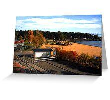 """""""Shipwreck - Skelleftea, Vasterbottens Lan, Sweden"""" Greeting Card"""
