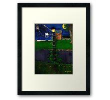 Blue House, Blue NIght Framed Print