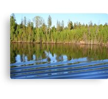 Reflected Trees along a Russian Waterway Canvas Print