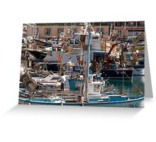 Old Port Genoa Greeting Card