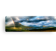 Rainbow Over Rannoch Moor Canvas Print