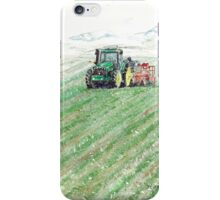 Tractor, Barn & Snow iPhone Case/Skin