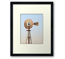 Classic Midwester American Windmill Framed Print