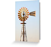 Classic Midwester American Windmill Greeting Card