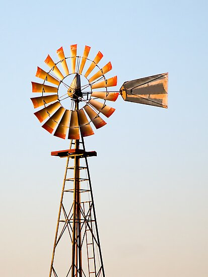 Classic Midwester American Windmill by Kenneth Keifer