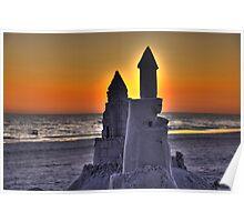 Sand Castle on Siesta Key Poster
