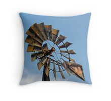Dark Midwestern Windmill Throw Pillow