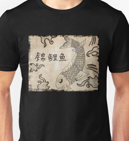 Koi Fish on Parchment Paper Unisex T-Shirt